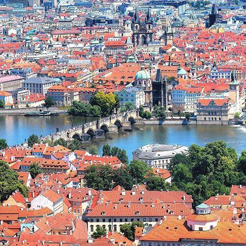 Praha letecky